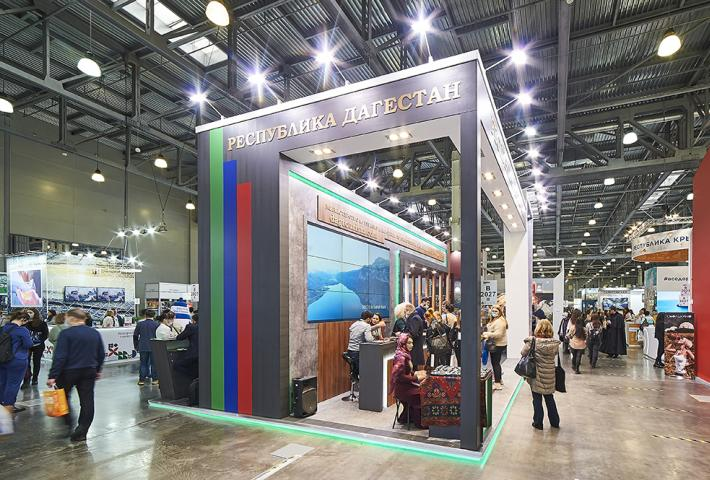 Высокий выставочный стенд Республики Дагестан