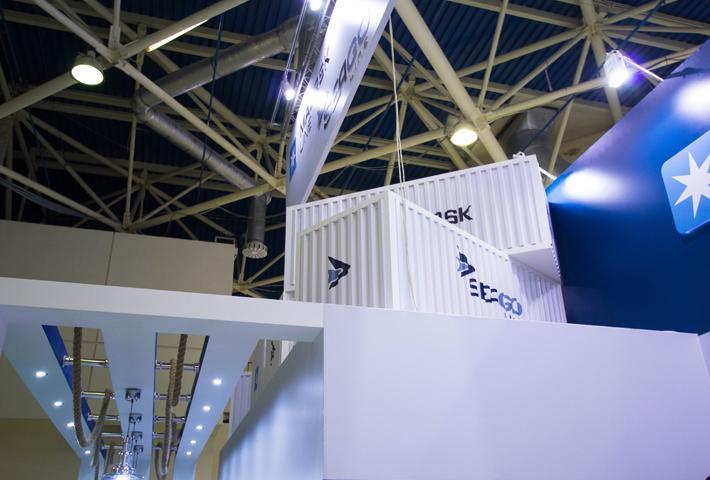 Макеты контейнеров на эксклюзивном стенде