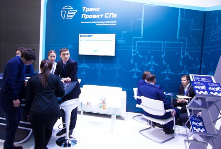 Переговорная зона стенда Транс Проект
